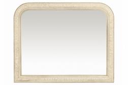 Широкое настенное зеркало в раме цвета слоновой кости OLIVIA OVERMANTEL 89*114 (Ivori)