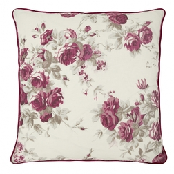Большая декоративная подушка ROSES 60*60 (Cassis)