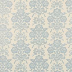 Тонкие бумажные обои с цветочным рисунком голубого цвета TATTON (Duck Egg)