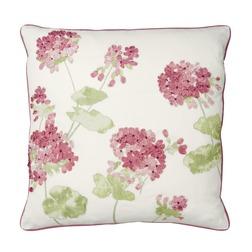 Красивая подушка с цветками герани GERANIUM 45*45 (Cranberry)