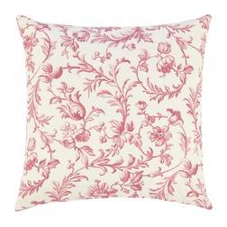Квадратная подушка для дивана с цветочным рисунком IRONWORK SCROLL 50*50 (Cranberry)