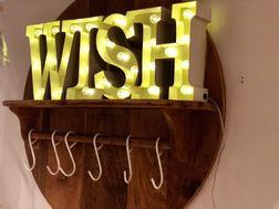 Светящийся домашний декор из букв WISH LIT SIGN 19*45*6 (Cream)