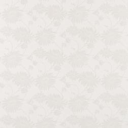 Обои белого цвета с чуть заметным рисунком хризантем KIMONO (White)