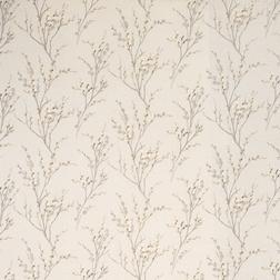 Обои серо-бежевого цвета с силуэтами весенней вербы PUSSY WILLOW (Dove Grey)