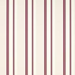 Бумажные обои в вертикальную полоску бордового цвета EATON STRIPE (Berry)