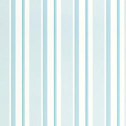 Бумажные обои в вертикальную полоску ярко-голубого цвета EATON STRIPE (Topaz)