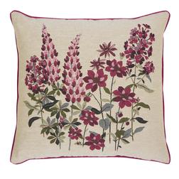 Декоративная подушка с бордовыми цветами LUPIN TAPESTRY 43*43 (Multi)