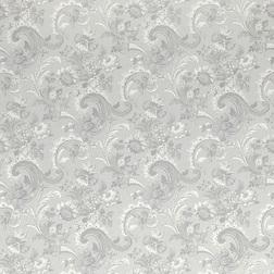 Обои в крупные цветы серебристого цвета BAROQUE (Silver)
