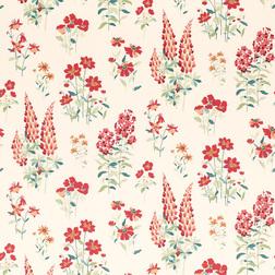 Красивые обои в яркие цветы FERNSHAW (Cranberry)