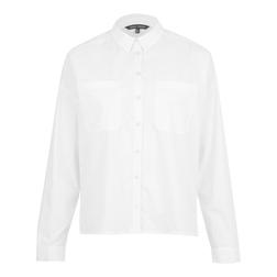 Хлопковая  блуза белого цвета классического кроя BL 044/1