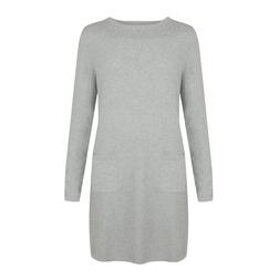 Стильное платье-туника серого цвета MD 938