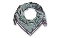 Шелковый платок на шею голубого цвета  SL 549
