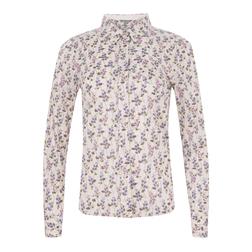 Кремовая блуза с цветочным принтом  BL 334
