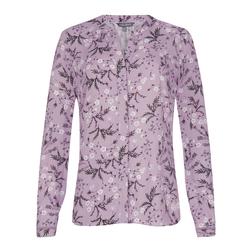 Лиловая блуза с цветочным принтом BL 418