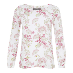 Кремовая  блуза с цветочным принтом BL 429