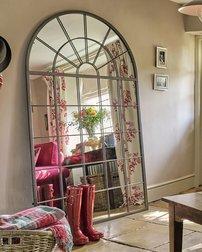 Большое зеркало арочной формы MALORY ARCHED 180*110*3 (Brown)