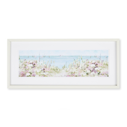 Прямоугольная картина с морским пейзажем COASTAL FLOWERS FRAMED PRINT 50*28 (Multi)