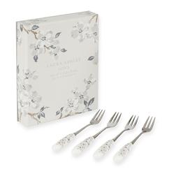Набор десертных вилок с цветочным рисунком IONA 4*CAKE FORKS L15 (Grey)