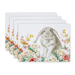 Набор подставок под посуду с рисунком кролика RABBIT SET OF 4 PLACEMATS 21*29 (Multi)