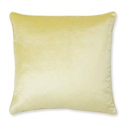Плюшевая подушка светло-желтого NIGELLA 50*50 (Sunshine)