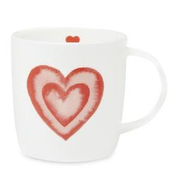 Большая чайная чашка с рисунком сердечка HEART SINGLE 10*13,5 (Multi)
