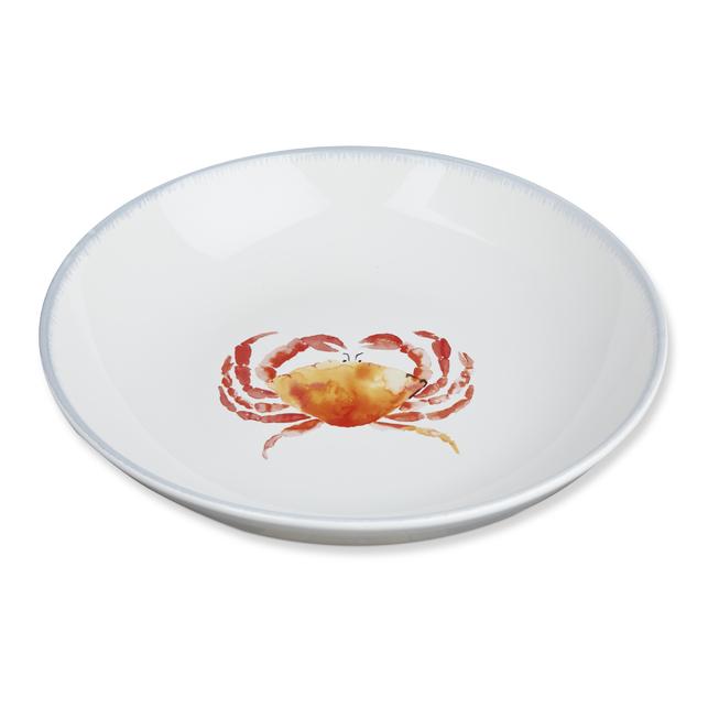 Широкая тарелка с рисунком краба CRAB SERVING BOWL Ø33 (Multi)