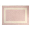 Шерстяной ковер светло-розового цвета LEWES 140* 200 (Blush)