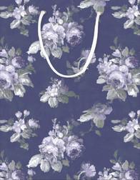 Большой подарочный пакет в серые цветы