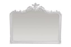 Роскошное зеркало белого цвета PATRICIA OVERMANTEL MIRROR 101*126*11 (White)