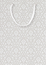 Подарочный пакет светло-серого цвета 24*17*7  бумажный маленький (ANNECY Steel)