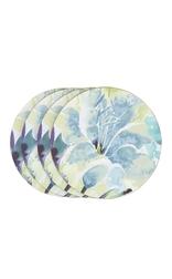 Набор круглых подставок под чашку в голубые цветы FRANCESCA SET OF 4 COASTERS 9*9 (Multi)