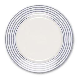 Широкая фарфоровая тарелка в тонкую полоску CANDY STRIPE CAKE PLATE Ø21 (Blue)