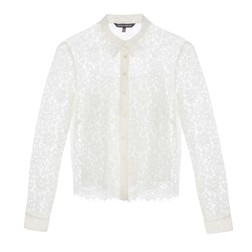 Нарядная белая блуза BL 089