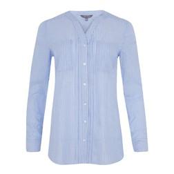 Блуза голубого цвета в полоску BL 124