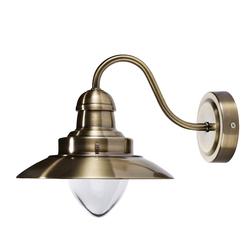 Бра в форме уличного фонаря цвета латуни CORBRIDGE WALL 20*19*25 (Antique Brass)