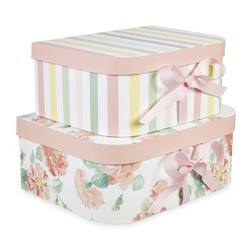 Набор коробок в розовой цветовой гамме TEAROSE SET OF 2 STORAGE BOXES 30*23*12,2 (Pink)