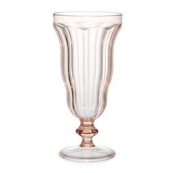 Высокая креманка из прозрачного акрила розового цвета KNICKERBOCKER GLORY GLASS 19*8 (Blush Pink)
