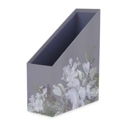 Купить лоток для бумаг в цветы пиона FRENCH ROMANTIC MAGAZINE FILE 31*25*10 (Purple)