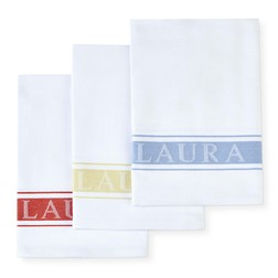 Набор кухонных полотенец с логотипом LA BRANDED SET OF 3 TEATOWELS 50*70 (Multi)