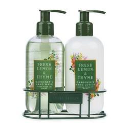 Жидкое мыло и лосьон для рук с ароматом лимона и тимьяна  FRESH LEMON & THYME GARDENERS HAND WASH