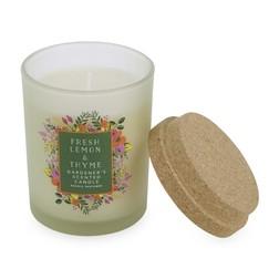 Ароматическая свеча с запахом лимона и тимьяна FRESH LEMON & THYME GARDENERS 7,5*7*9 (Multi)