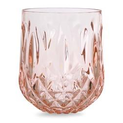 Стакан из акрила розового цвета FACETED TUMBLER 8,4*8,4*10,2 (Blush Pink)