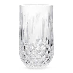 Высокий стакан из прозрачного акрила FACETED HIGH BALL TUMBLER 8*8*14 (Clear)