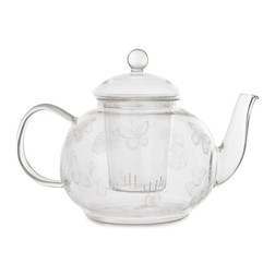 Прозрачный чайник с рисунком бабочек BUTTERFLY GARDEN TEAPOT 16*23*13,5 (Clear)