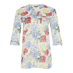 Блуза с ярким принтом цветов BL 440
