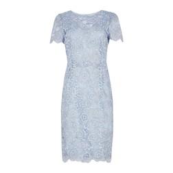 Кружевное платье голубого цвета MD 156