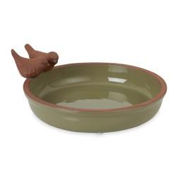 Керамическая кормушка для птиц BIRD BATH 11*27 (Green)