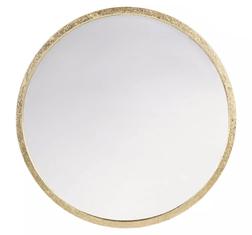 Небольшое зеркало круглой формы в раме золотистого цвета CONSTANCE SMALL Ø60 (Gold)