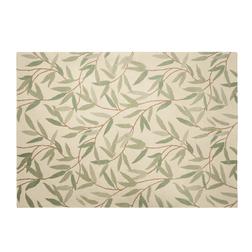 Ковер из шерсти с рисунком веточек ивы с зеленой листвой WILLOW LEAF 140*200 (Hedgerow)