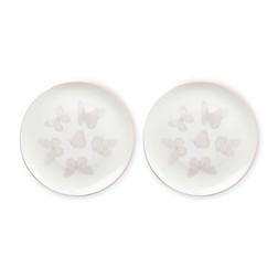 Набор фарфоровых тарелок с рисунком бабочек BUTTERFLY GARDEN SET OF 2 CAKE PLATES Ø20,5 (Blush Pink)